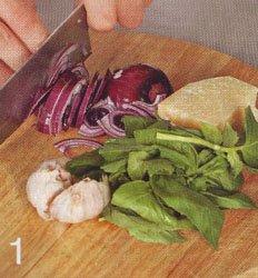 Брушетты с сыром и мидиями - Шаг 1