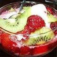 фруктовый десерт с маскарпоне