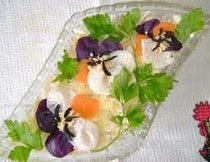 салат с мясом и овощами анютины глазки