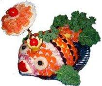 салат с сельдью рыбка