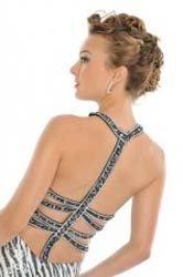 Платье для выпускного со сложными ремнями-поводками