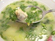 Картофельный суп с мучными клецками