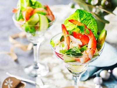 Рецепт приготовления «праздничного» салата-коктейля