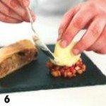Карамелизованное яблоко с гранатом, штруделем и мороженым 6