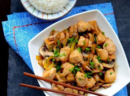 Рецепт приготовления цыпленка в воке с устричным соусом
