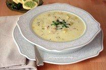 Суп из рыбы с овощами и сливками