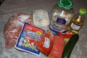 """Необходимые ингредиенты для суши """"Сяке маки"""" и """"Филадельфия"""""""