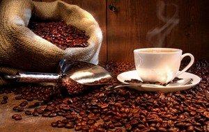 Ароматные зерна настоящего кофе