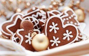 Праздничное печенье на Новый Год
