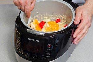 Приготовление запеканки с фруктами в мультиварке