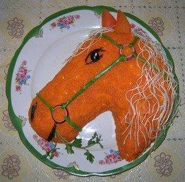 """Ингредиенты для приготовления салата """"Лошадь"""""""