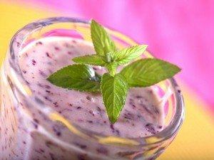 Рецепт приготовления чернично-йогуртового коктейля