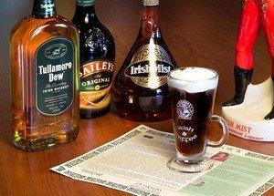 Первый способ приготовления кофе по-ирландски