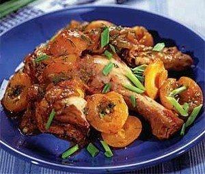 Ингредиенты для приготовления курицы с абрикосами