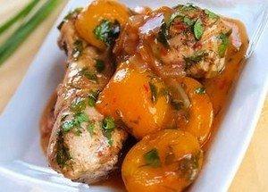 Приготовление курицы с абрикосами