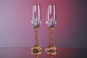 Свадебные бокалы из стекла