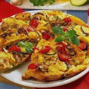Приготовление картофельно-грибной пиццы