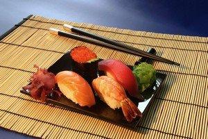Распространенный вариант доставки суши