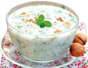 """Рецепт приготовления холодного супа """"Таратор"""""""