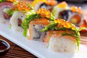 Дорогой способ доставки суши