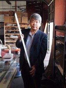 Японец с ножом Magurokiri
