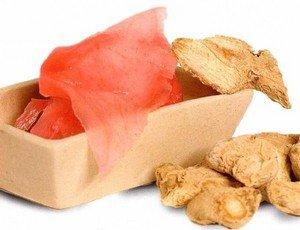Ингредиенты для приготовления маринованного имбиря