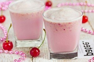 Рецепт приготовления молочно-вишневого напитка