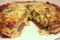 Пирог с картофелем и рыбой «Очарование»
