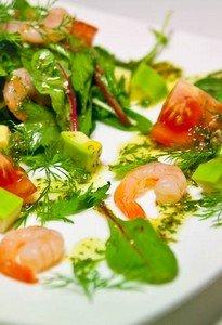 Рецепт салата из креветок с авокадо