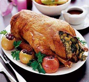Рецепт приготовления фаршированного гуся