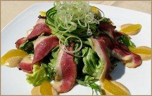 Рецепт приготовления французского салата из утиных грудок