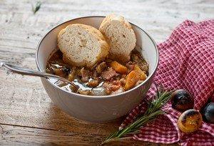 Приготовление нежного каштанового супа