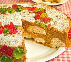 Новогодний торт с мармеладом