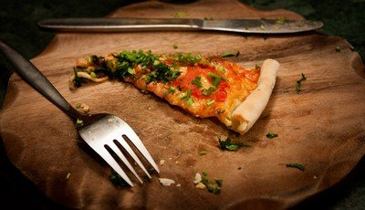 Вот такая была вкусная пицца