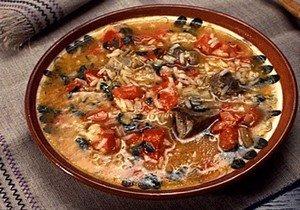 Ингредиенты для приготовления харчо с чечевицей и рисом