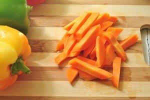 Нарезка овощей брусочками