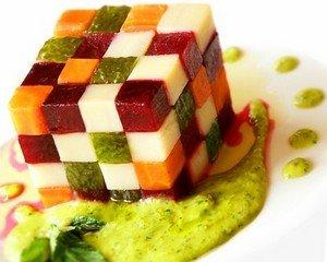 Нарезка овощей кубиками