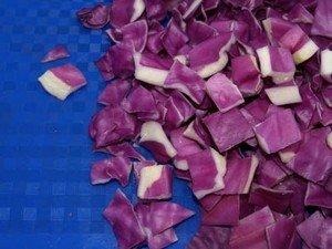 Нарезка овощей квадратиками