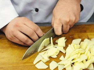 Нарезка овощей ломтиками