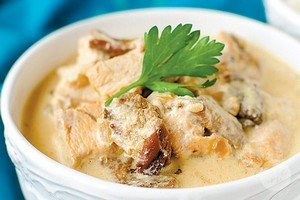 Ингредиенты для приготовления фрикасе из мяса курицы