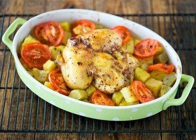 Рецепт запеченных цыплят с картофелем