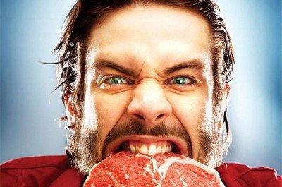 Мясоед - человек с бурным темпераментом