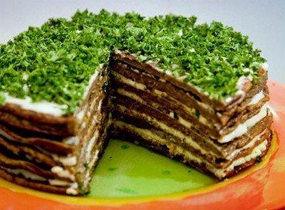 Рецепт приготовления торта из печени
