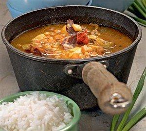 Приготовление блюда «Чолнт»