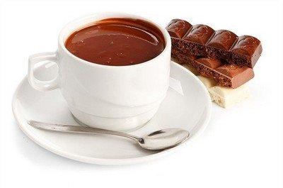 Горячий шоколад из плиток настоящего шоколада