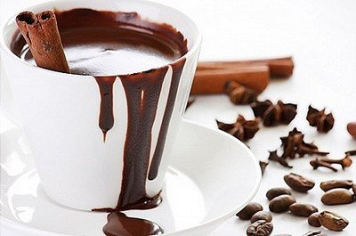Горячий шоколад готовится либо из какао либо из плиток шоколада