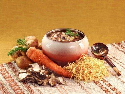 Ингредиенты для приготовления грибного супа «Спринтер»