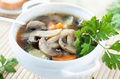 Способ приготовления грибного супа «Спринтер»