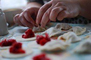Приготовление вареников с творогом