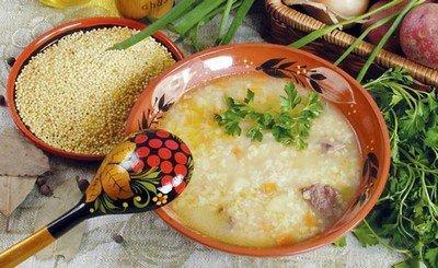Суп с пшенной крупой